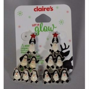 Claire's girls earrings penguins costume jewelry
